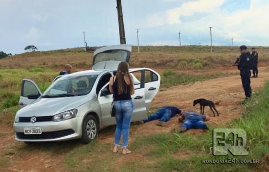 Polícia militar de Monte Negro prende grupo criminoso na BR-421, em RO